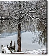 Shenandoah Winter Serenity Acrylic Print by Lara Ellis