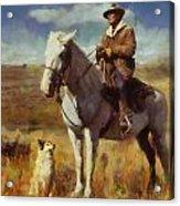 Shepherd And His Dog Acrylic Print