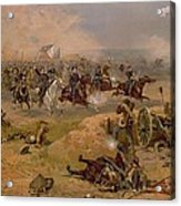 Sheridan's Final Charge At Winchester Acrylic Print by American School