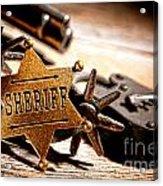 Sheriff Tools Acrylic Print