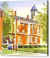 Sheriffs Residence With Courthouse II Acrylic Print