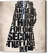 Sherlock - Benedict Cumberbatch Acrylic Print