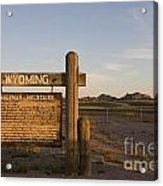 Sherman Mountains Wyoming Acrylic Print