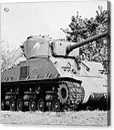 sherman tank memorial swift current Saskatchewan Canada Acrylic Print