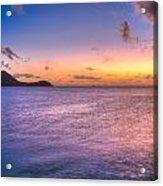 Sherri's Sunset St. Lucia Acrylic Print
