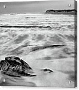 Shifting Sands On Ocracoke Outer Banks Bw Acrylic Print