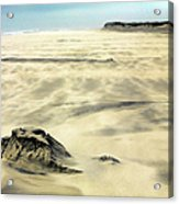 Shifting Sands On Ocracoke Outer Banks Acrylic Print by Dan Carmichael