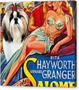 Shih Tzu Art - Salome Movie Poster Acrylic Print