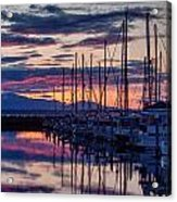 Shilshole Olympic Mountains Sunset Acrylic Print