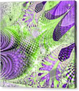 Shimmering Joy Abstract Digital Art Acrylic Print