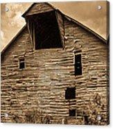 Shingle Barn Sepia 1 Acrylic Print