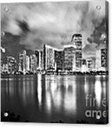 Shining Miami B/w Edition Acrylic Print