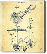 Ship Anchor Patent From 1892 - Vintage Acrylic Print