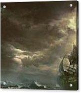 Ship  Badweather Acrylic Print