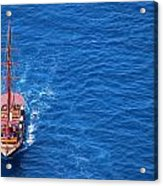 Ship By The Meditteranean Sea Acrylic Print