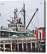 Ship Docked In Lunenburg-ns Acrylic Print