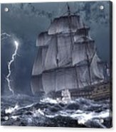 Ship In A Storm Acrylic Print