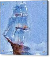 Ship In Fog Acrylic Print