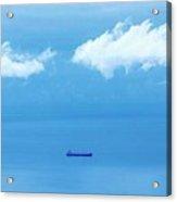 Ship In Straits Of Gibraltar, Spain Acrylic Print