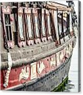 Ship In The Water. Acrylic Print