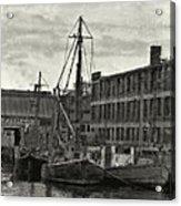 Ship Mooring Vintage Acrylic Print