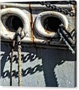 Ship Ropes Chains Acrylic Print