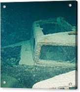 Ship Wreck With Trucks Acrylic Print