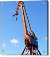 Shipping Industry Crane Acrylic Print