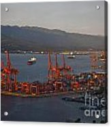 Shipping Terminals Port Of Vancouver Acrylic Print