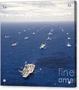 Ships And Submarines Participating Acrylic Print