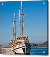 Ships At Lefkada Acrylic Print