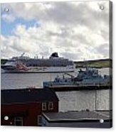 Ships In Lerwick Harbour Acrylic Print