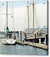 Ships In Newport Harbor Acrylic Print