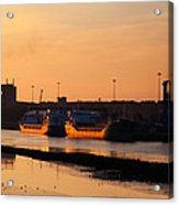 Ships Moored At The New Docking Acrylic Print