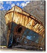 Shipwreck At Smugglers Cove Acrylic Print
