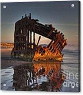 Shipwreck At Sunset Acrylic Print