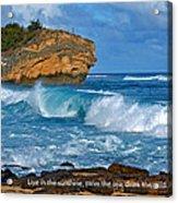 Shipwreck Beach Shorebreaks 1 Acrylic Print
