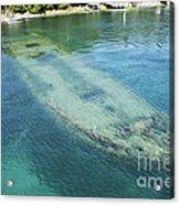 Shipwreck In Big Tub Harbour Acrylic Print