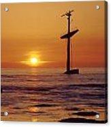 1a4145-a1-e-shipwreck In The Bay Acrylic Print