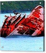 Chile Shipwreck Acrylic Print