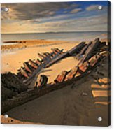 Shipwreck On Cape Cod Beach Acrylic Print by Dapixara Art
