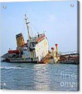 Shipwrecked Diesel Tanker Acrylic Print