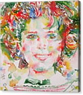 Shirley Temple - Watercolor Portrait.1 Acrylic Print