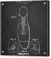 Shoe Eyelet Patent From 1905 - Charcoal Acrylic Print