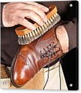 Shoe Polisher Acrylic Print