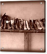 Shoes Acrylic Print by Fran Riley