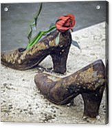 Shoes On The Danube Bank Acrylic Print