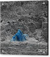 Shooting Glacier Acrylic Print by Camilla Brattemark