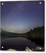 Shooting Star At Trillium Lake Acrylic Print