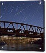 Shooting Star Over Bridge Acrylic Print